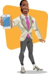 Modern Style African-American Man Vector Character - shape11