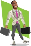 Modern Style African-American Man Vector Character - shape6