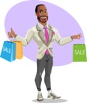 Modern Style African-American Man Vector Character - shape9