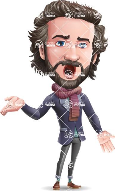 Stylish Man Cartoon Vector Character - Feeling Confused