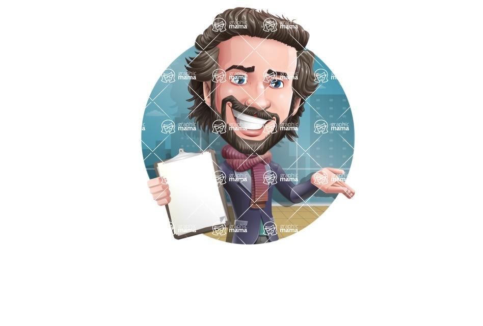 Stylish Man Cartoon Vector Character - Shape2