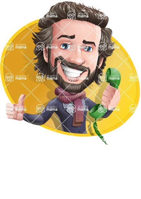 Stylish Man Cartoon Vector Character - Shape4