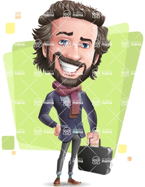 Stylish Man Cartoon Vector Character - Shape5