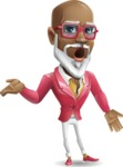 Mature African American Man Cartoon Character - Feeling Confused