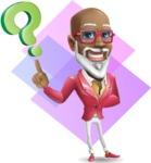 Mature African-American Man Cartoon Vector Character - Shape 11