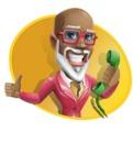 Mature African-American Man Cartoon Vector Character - Shape4