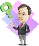 Asian Businessman Cartoon Vector Character - Shape 11