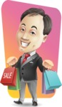 Asian Businessman Cartoon Vector Character - Shape 12