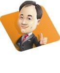 Asian Businessman Cartoon Vector Character - Shape1