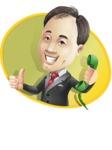 Asian Businessman Cartoon Vector Character - Shape4