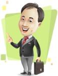 Asian Businessman Cartoon Vector Character - Shape5