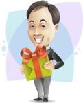 Asian Businessman Cartoon Vector Character - Shape8