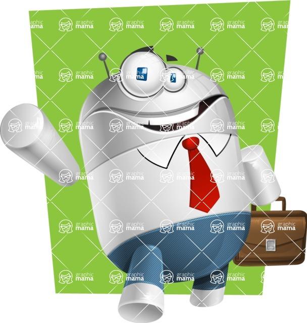 Droid Cartoon Vector Character AKA Ray McTie - Shape6