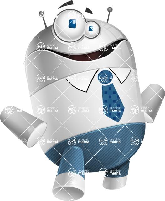 Droid Cartoon Vector Character AKA Ray McTie - Patient