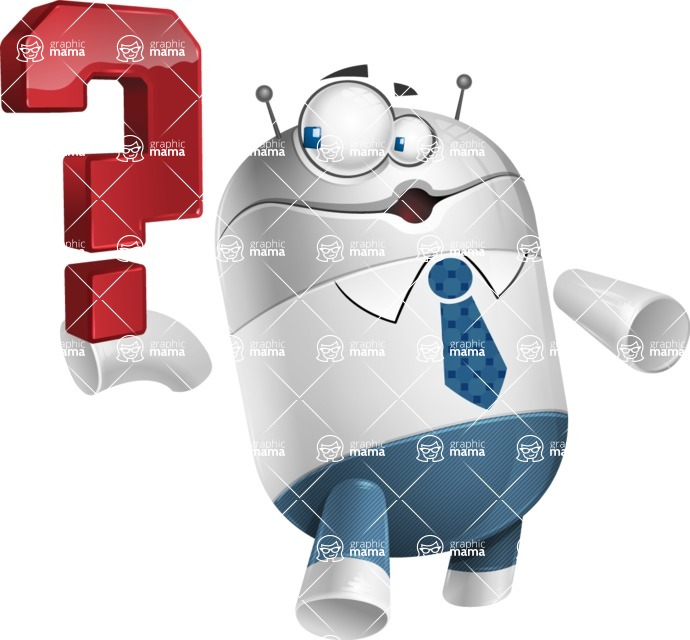 Droid Cartoon Vector Character AKA Ray McTie - Question
