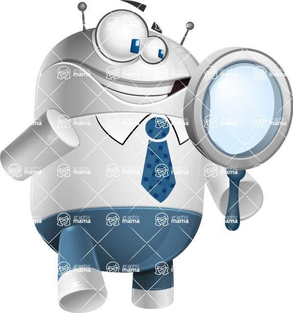 Droid Cartoon Vector Character AKA Ray McTie - Search