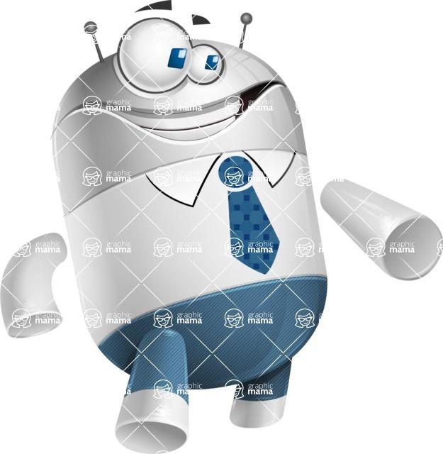 Droid Cartoon Vector Character AKA Ray McTie - Show