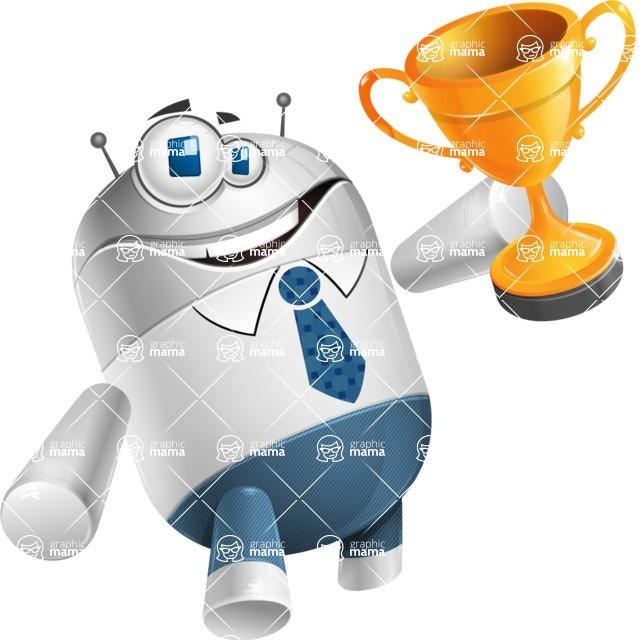 Droid Cartoon Vector Character AKA Ray McTie - Winner