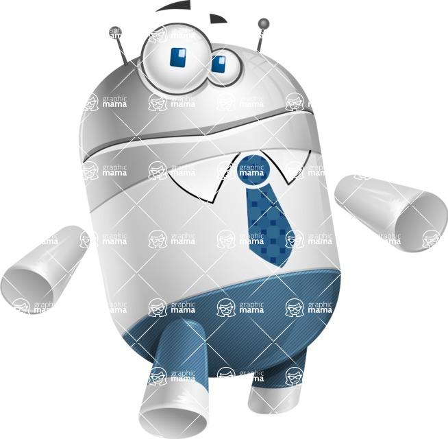 Droid Cartoon Vector Character AKA Ray McTie - Sorry