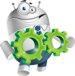 Droid Cartoon Vector Character AKA Ray McTie - Gears
