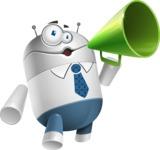 Droid Cartoon Vector Character AKA Ray McTie - Loudspeaker