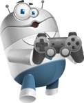 Droid Cartoon Vector Character AKA Ray McTie - Game