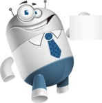 Droid Cartoon Vector Character AKA Ray McTie - Sign 2