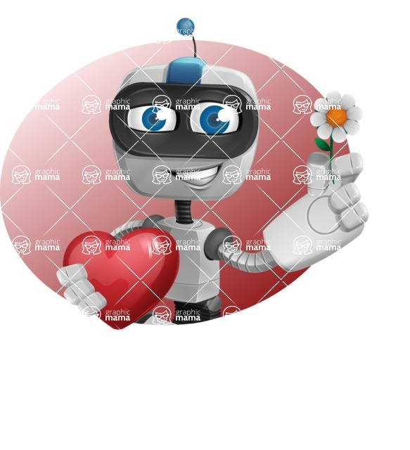 Robot on Wheels Cartoon Vector Character AKA ROWAN - Shape4
