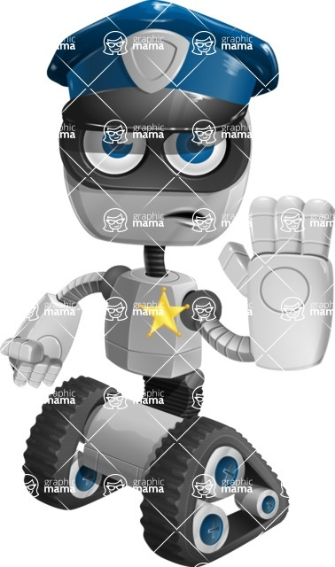 ROWAN (Robot on wheels A-class Nanotech) - Policeman