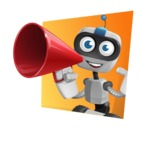 Robot on Wheels Cartoon Vector Character AKA ROWAN - Shape3