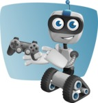 Robot on Wheels Cartoon Vector Character AKA ROWAN - Shape5