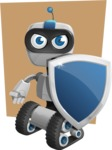 Robot on Wheels Cartoon Vector Character AKA ROWAN - Shape6