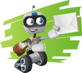 Robot on Wheels Cartoon Vector Character AKA ROWAN - Shape7