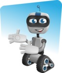 Robot on Wheels Cartoon Vector Character AKA ROWAN - Shape9