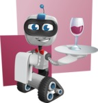 Robot on Wheels Cartoon Vector Character AKA ROWAN - Shape10