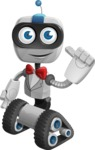 Robot on Wheels Cartoon Vector Character AKA ROWAN - Gentleman