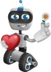 Robot on Wheels Cartoon Vector Character AKA ROWAN - Love 2