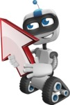 Robot on Wheels Cartoon Vector Character AKA ROWAN - Arrow