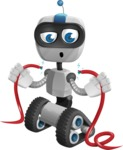 Robot on Wheels Cartoon Vector Character AKA ROWAN - Cable