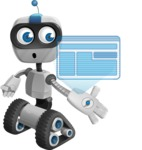 Robot on Wheels Cartoon Vector Character AKA ROWAN - Multimedia