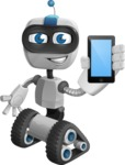 Robot on Wheels Cartoon Vector Character AKA ROWAN - iPhone