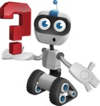 Robot on Wheels Cartoon Vector Character AKA ROWAN - Question