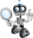 Robot on Wheels Cartoon Vector Character AKA ROWAN - Search
