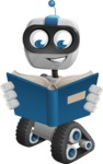 Robot on Wheels Cartoon Vector Character AKA ROWAN - Book