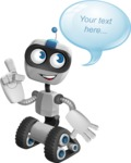Robot on Wheels Cartoon Vector Character AKA ROWAN - Bubble