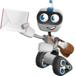 Robot on Wheels Cartoon Vector Character AKA ROWAN - Delivery 3