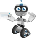 Robot on Wheels Cartoon Vector Character AKA ROWAN - Printer