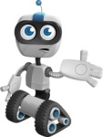 Robot on Wheels Cartoon Vector Character AKA ROWAN - Sorry