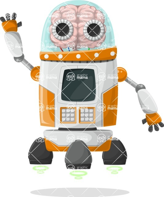 Robot Cartoon Graphic Maker - pose 36