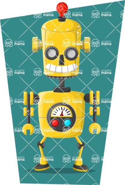 Robot Cartoon Graphic Maker - pose 4